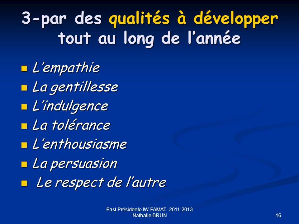 3-par des qualités à développer tout au long de l'année