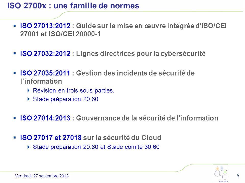 ISO 2700x : une famille de normes