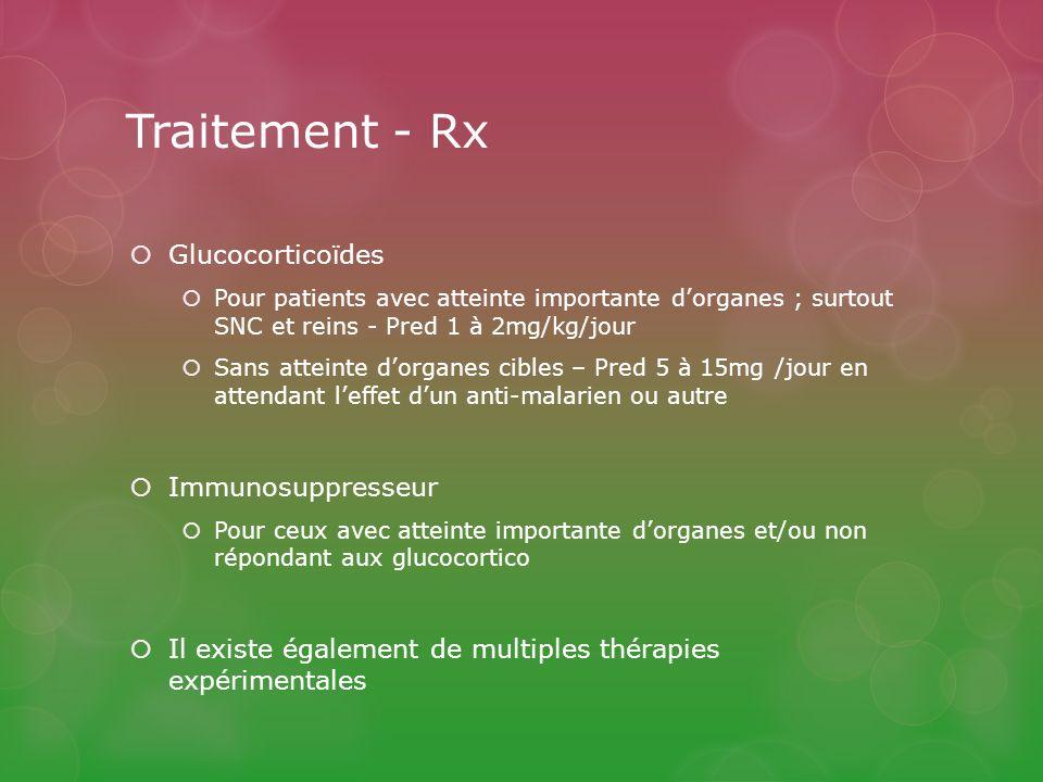 Traitement - Rx Glucocorticoïdes Immunosuppresseur