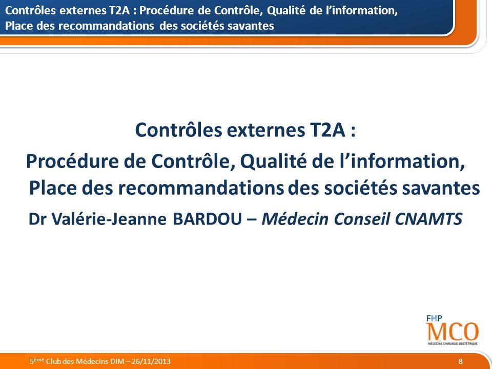 Contrôles externes T2A :