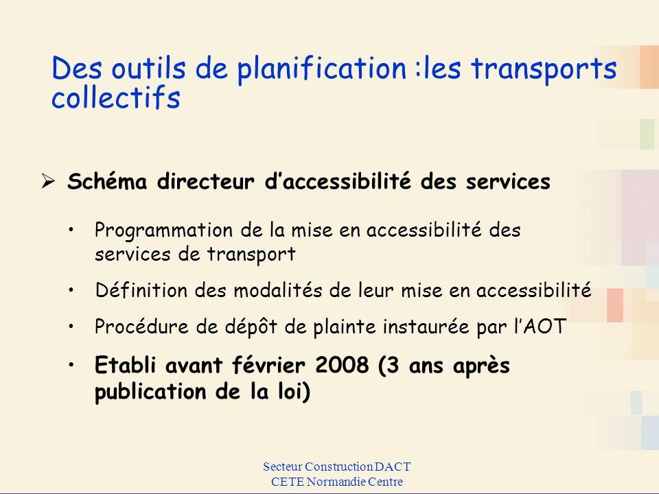 Des outils de planification :les transports collectifs