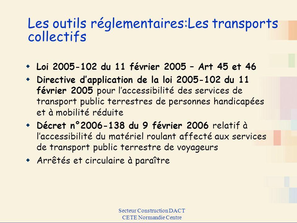 Les outils réglementaires:Les transports collectifs