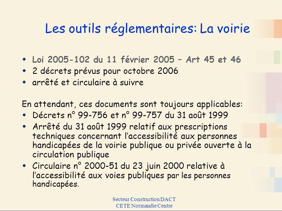 Les outils réglementaires: La voirie