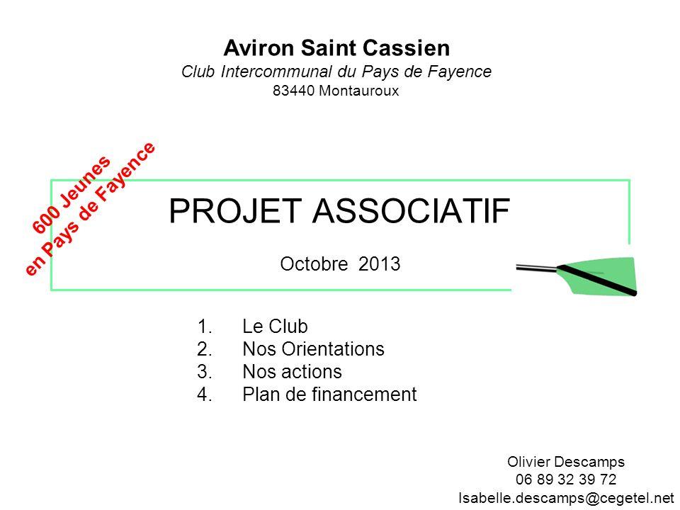 PROJET ASSOCIATIF Octobre 2013