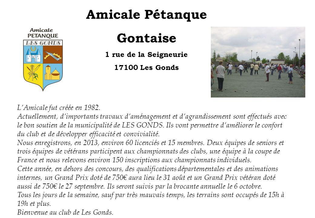 Amicale Pétanque Gontaise