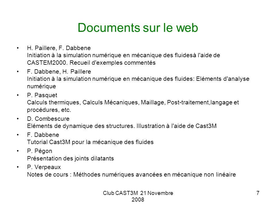 Documents sur le web