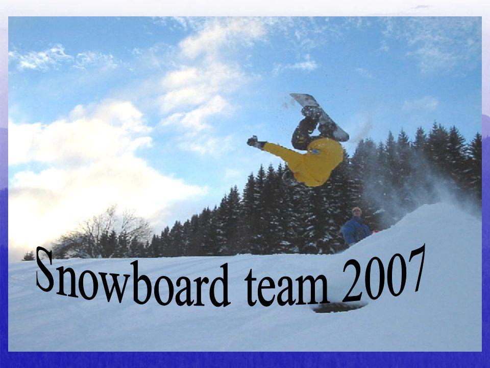 Snowboard team 2007 Petit mot sur Régis. On pense tous fort à lui.