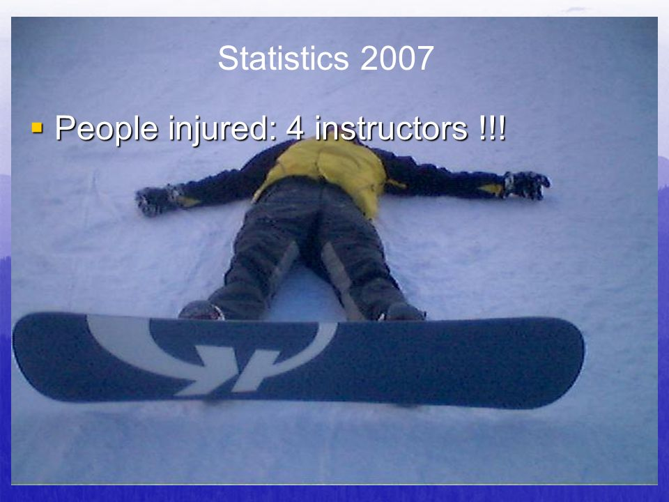 People injured: 4 instructors !!!