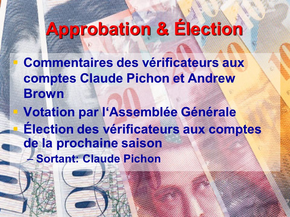 Approbation & Élection
