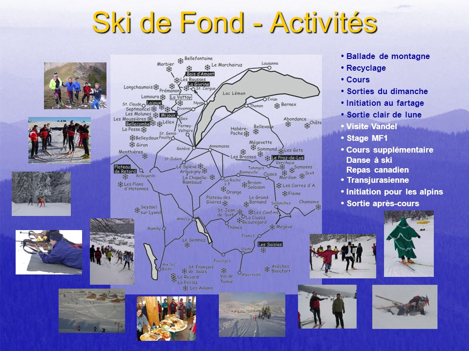 Ski de Fond - Activités • Ballade de montagne • Recyclage • Cours