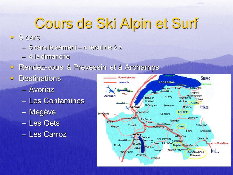 Cours de Ski Alpin et Surf