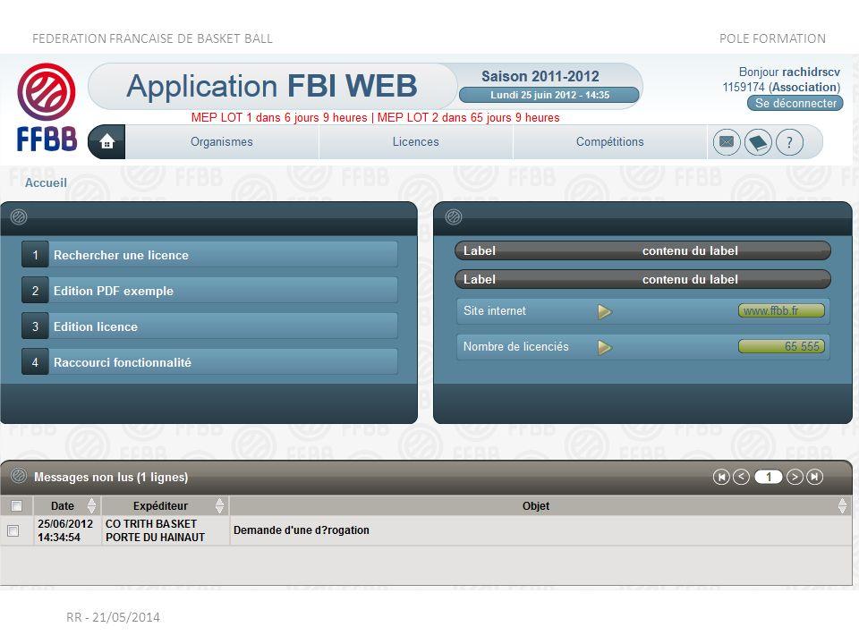 Lorsque le club adverse se connecte, il voit le message dans sa messagerie FBI et il également eu un mail à l'adresse du correspondant.