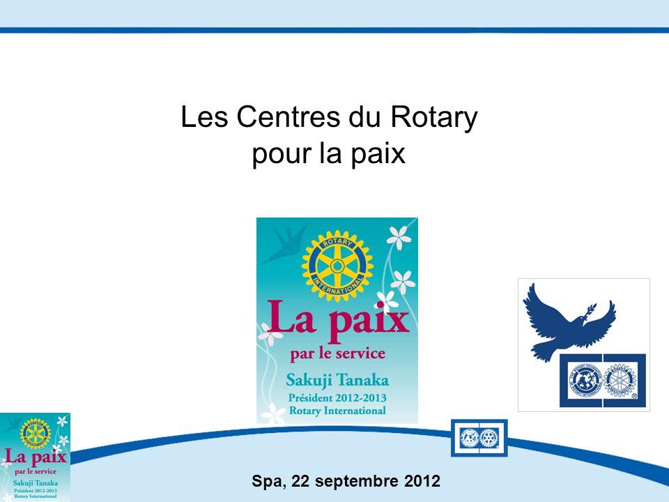 Les Centres du Rotary pour la paix