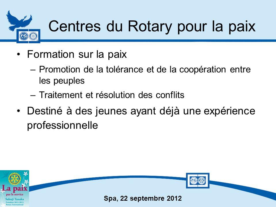 Centres du Rotary pour la paix