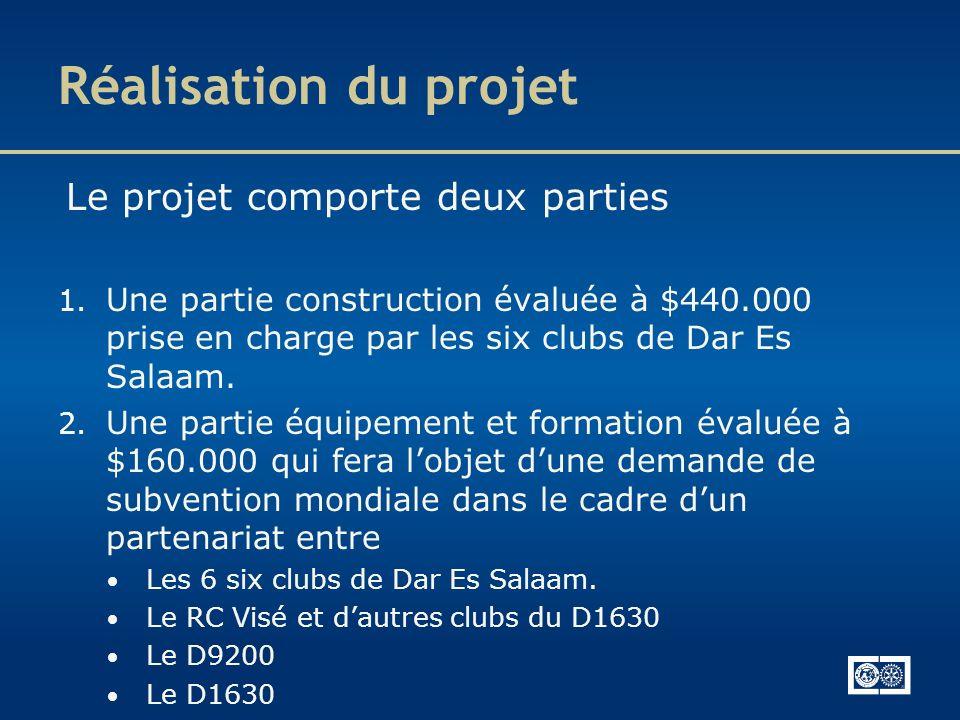 Réalisation du projet Le projet comporte deux parties
