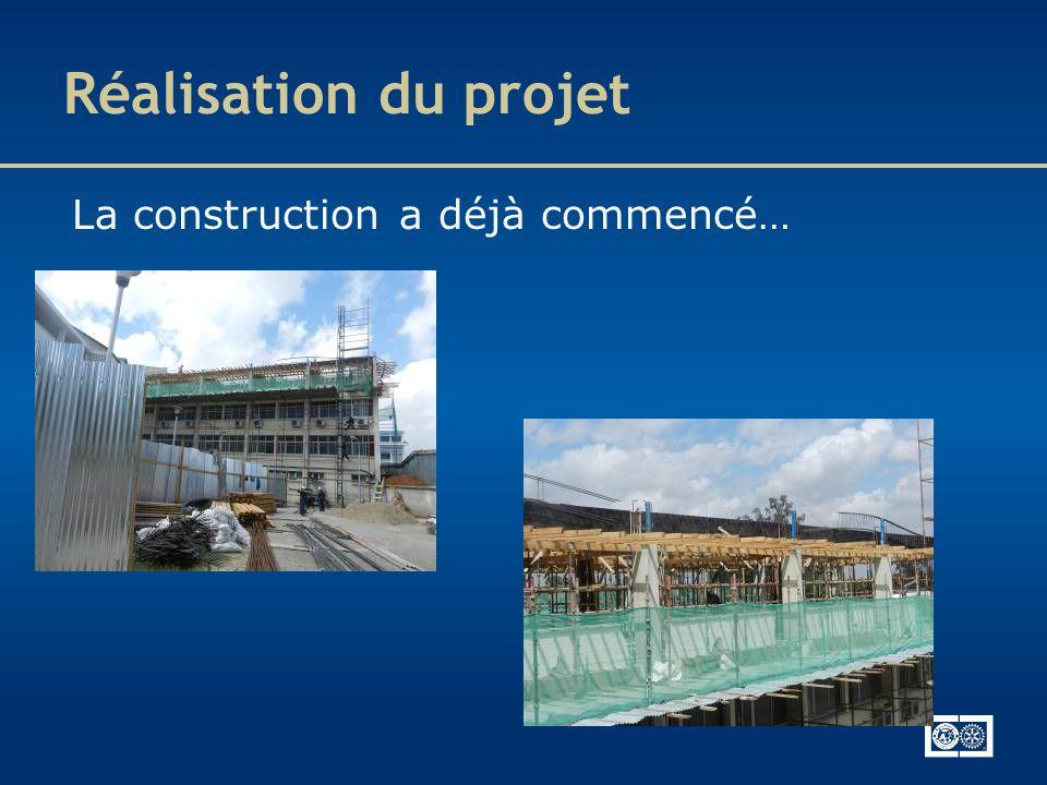 Réalisation du projet La construction a déjà commencé… 34