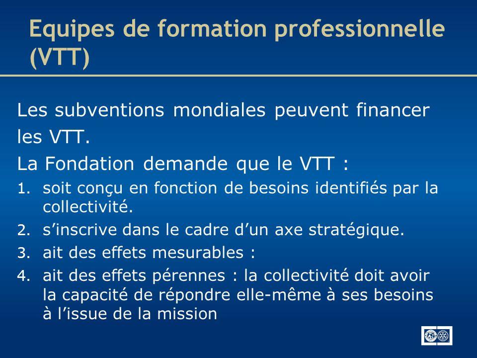Equipes de formation professionnelle (VTT)