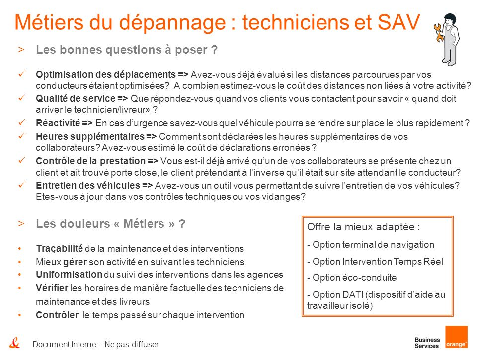 Métiers du dépannage : techniciens et SAV
