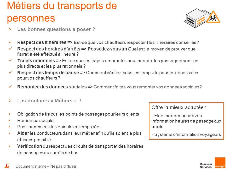 Métiers du transports de personnes