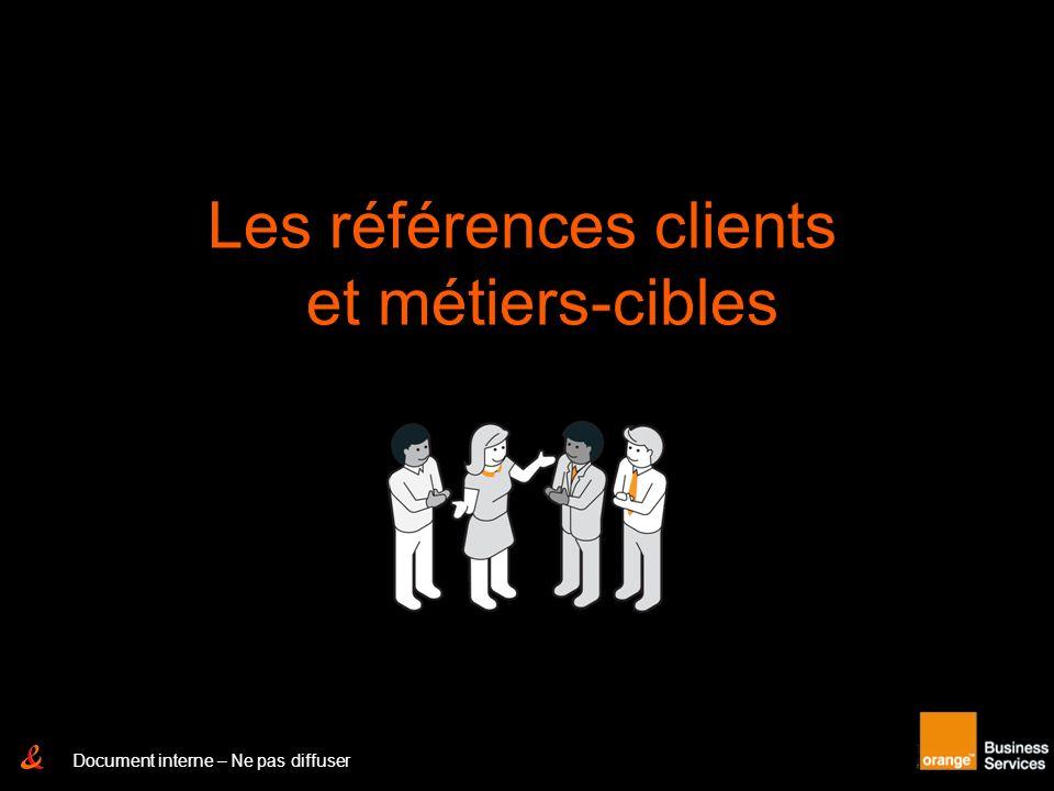Les références clients et métiers-cibles