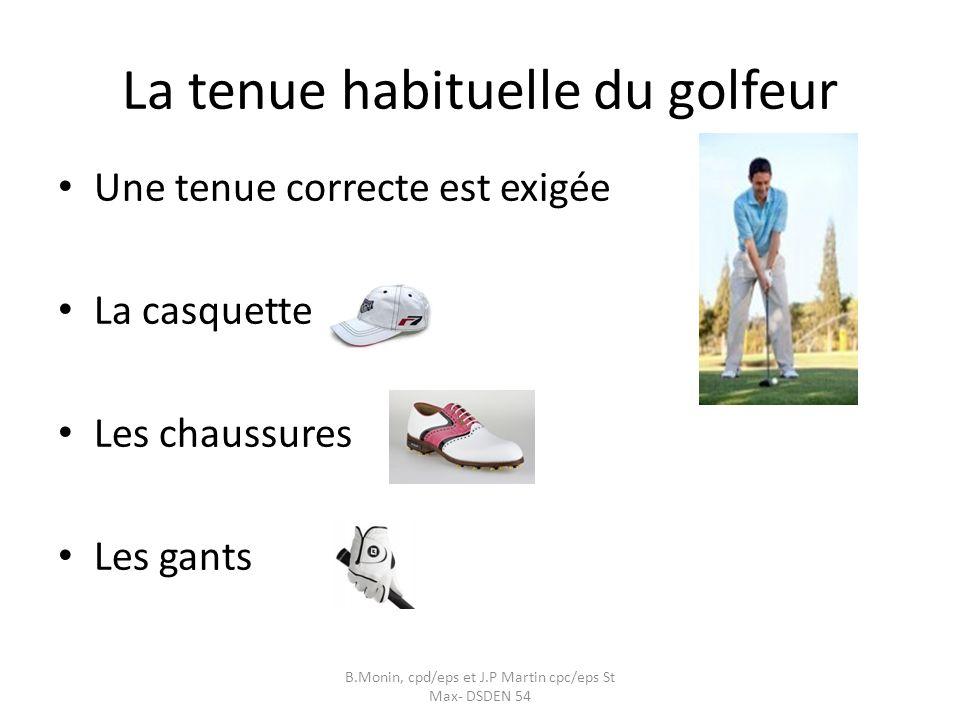 La tenue habituelle du golfeur