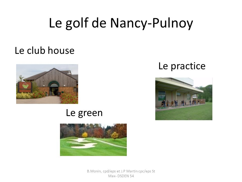 Le golf de Nancy-Pulnoy
