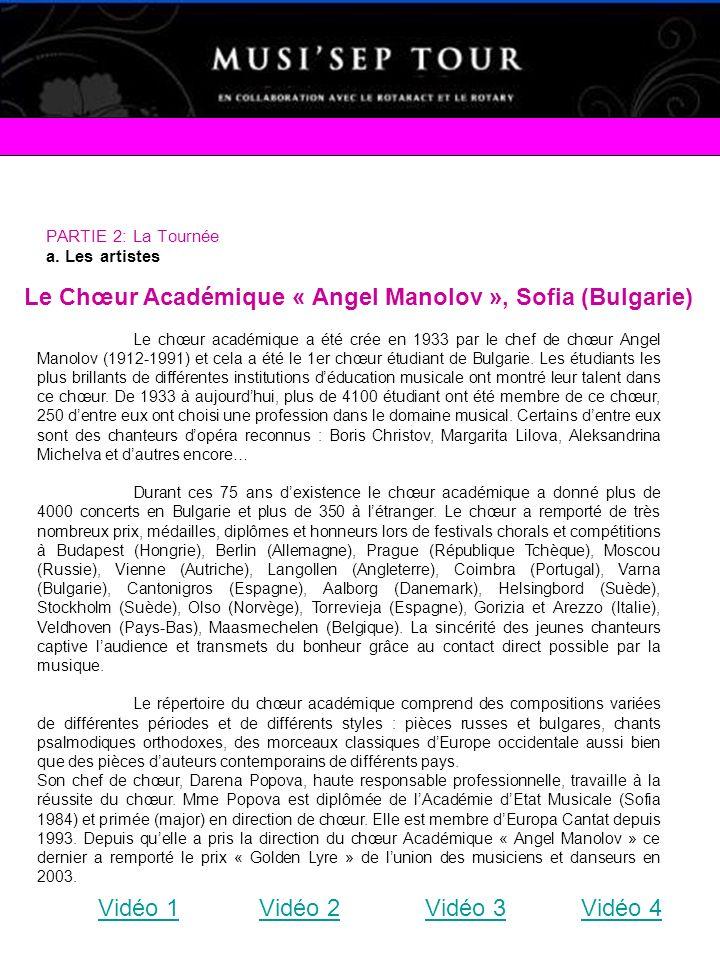 Le Chœur Académique « Angel Manolov », Sofia (Bulgarie)
