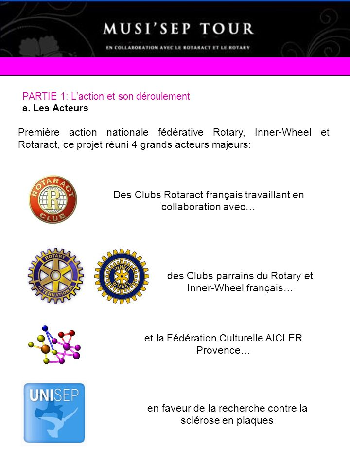 Des Clubs Rotaract français travaillant en collaboration avec…