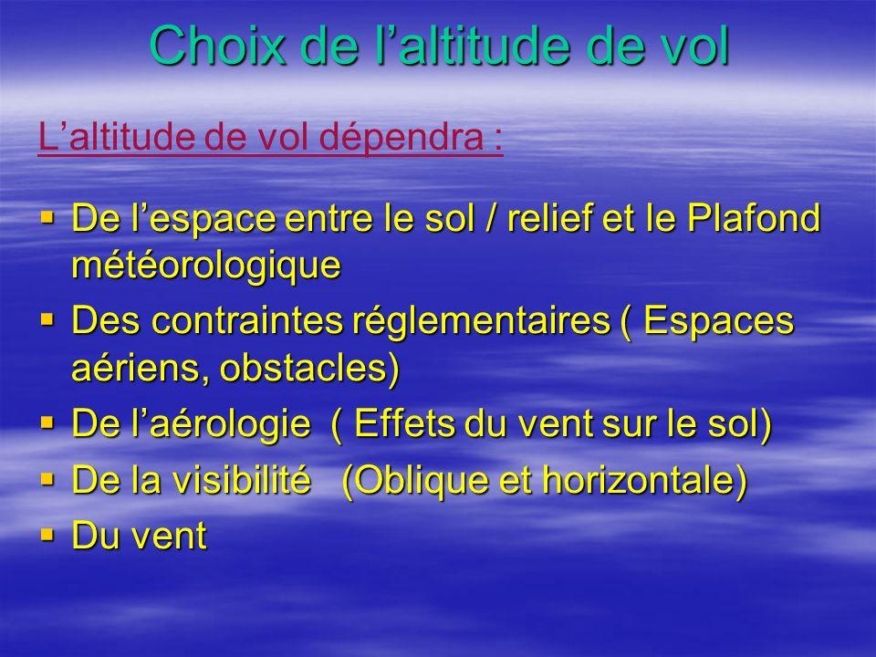 Choix de l'altitude de vol