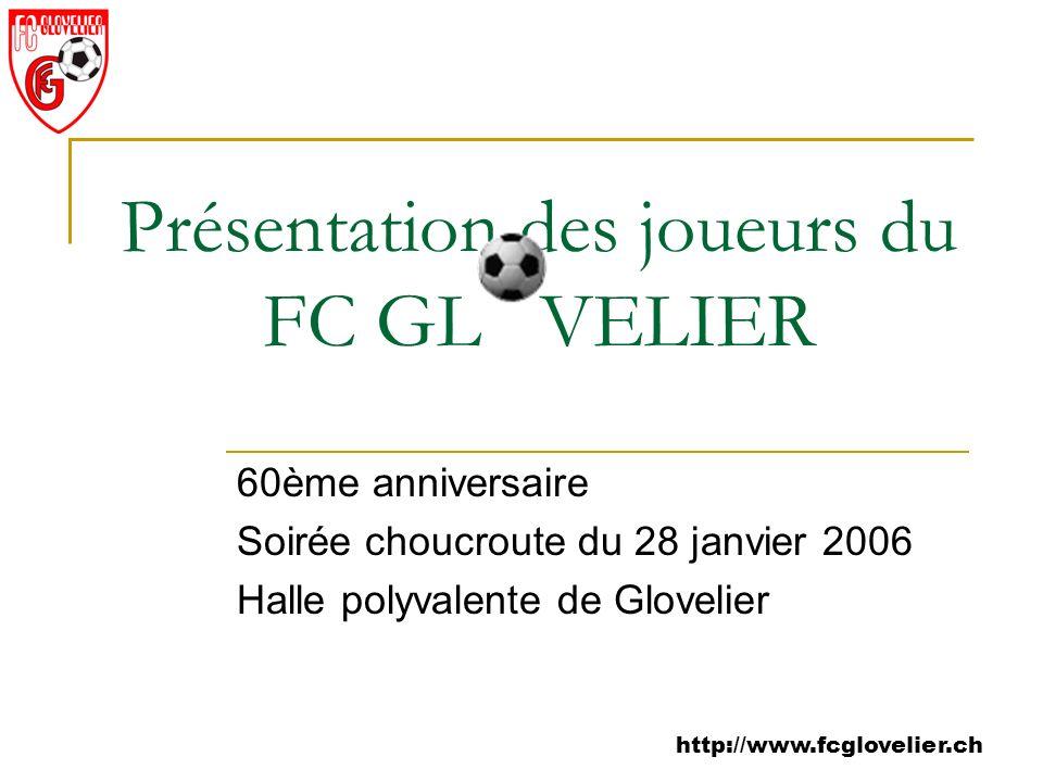 Présentation des joueurs du FC GL VELIER