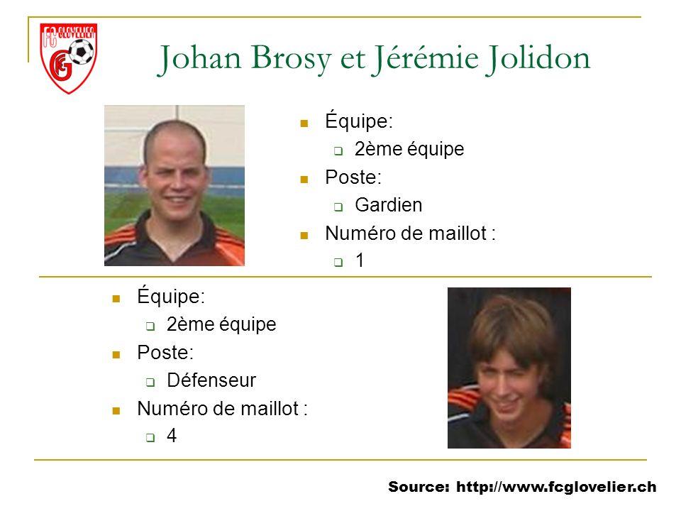 Johan Brosy et Jérémie Jolidon