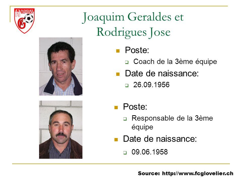 Joaquim Geraldes et Rodrigues Jose