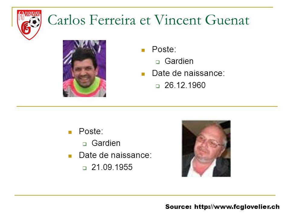 Carlos Ferreira et Vincent Guenat