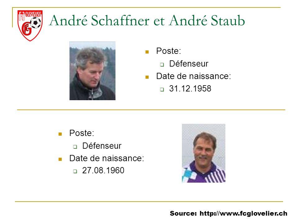 André Schaffner et André Staub