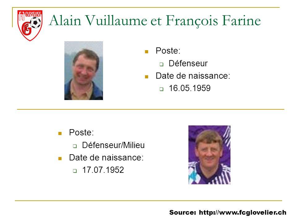 Alain Vuillaume et François Farine