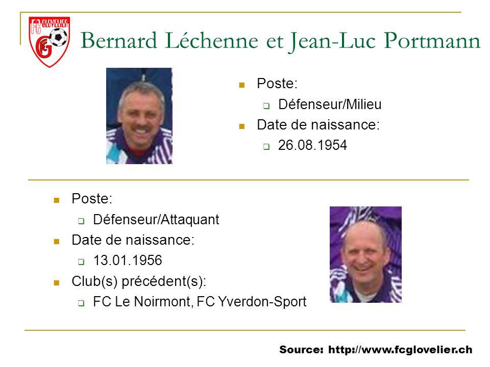 Bernard Léchenne et Jean-Luc Portmann