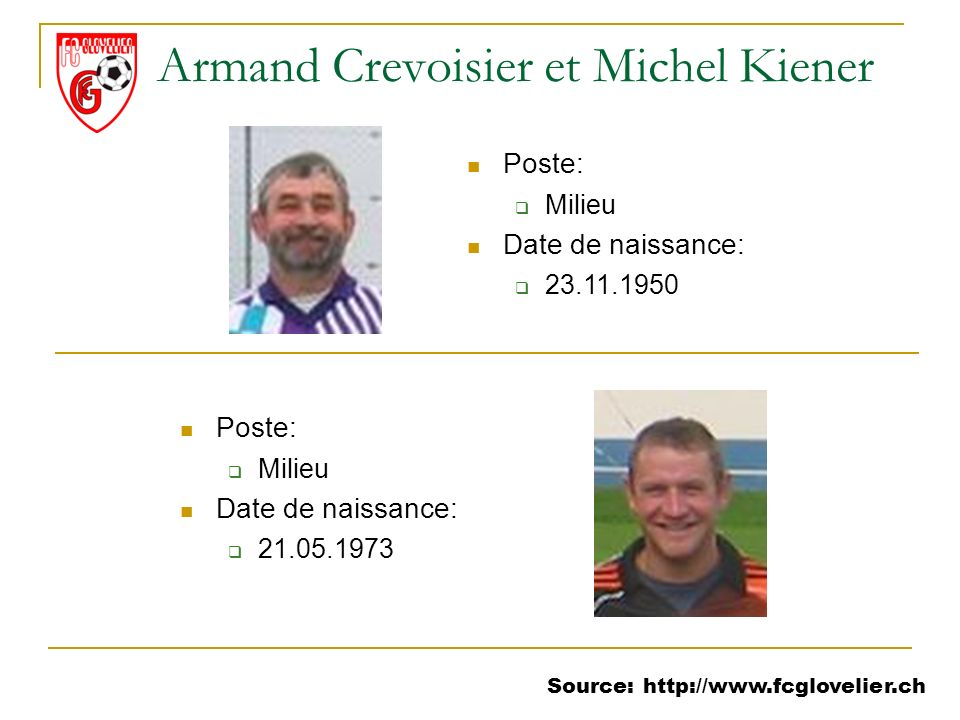 Armand Crevoisier et Michel Kiener