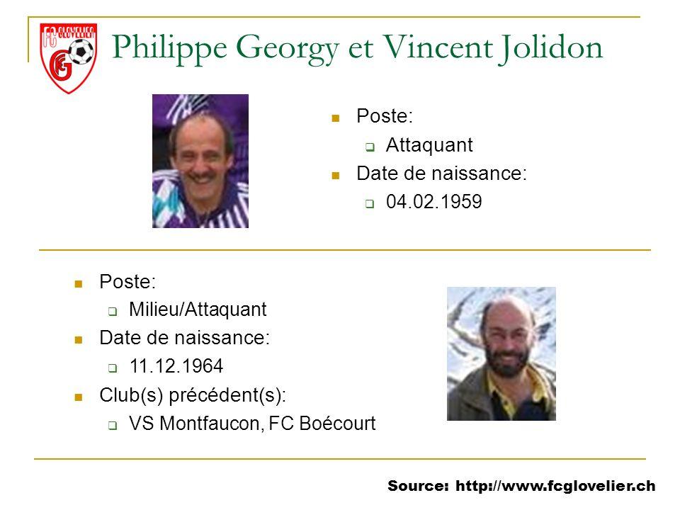 Philippe Georgy et Vincent Jolidon