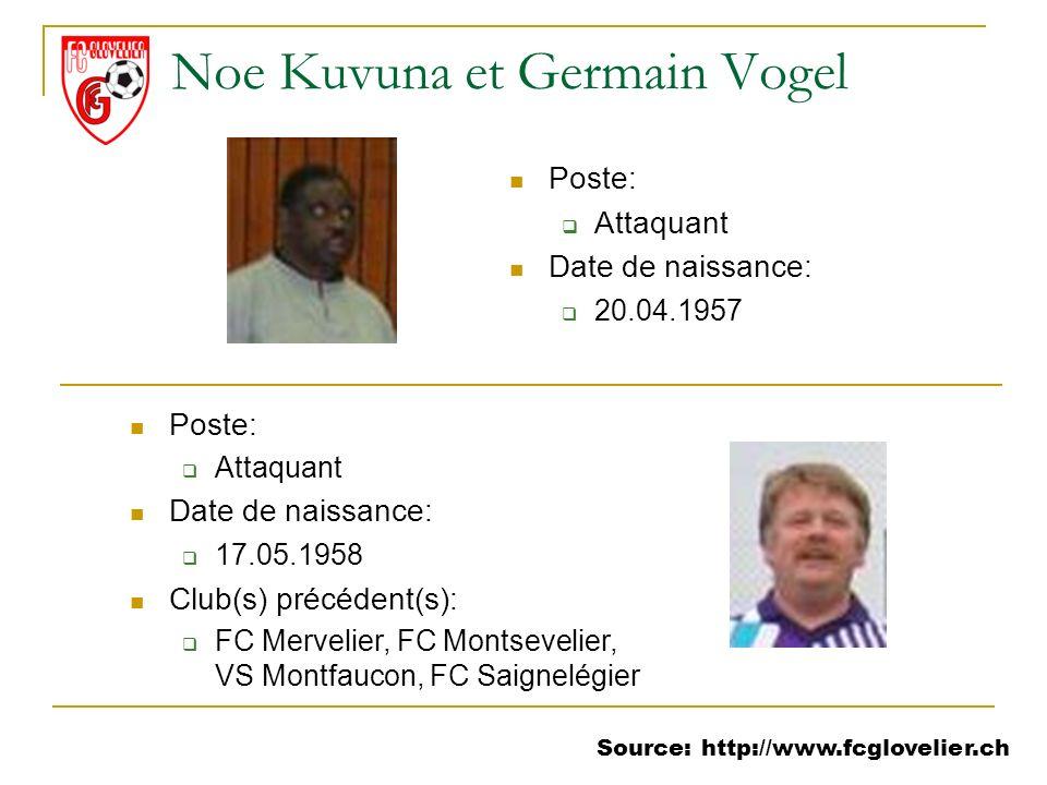 Noe Kuvuna et Germain Vogel