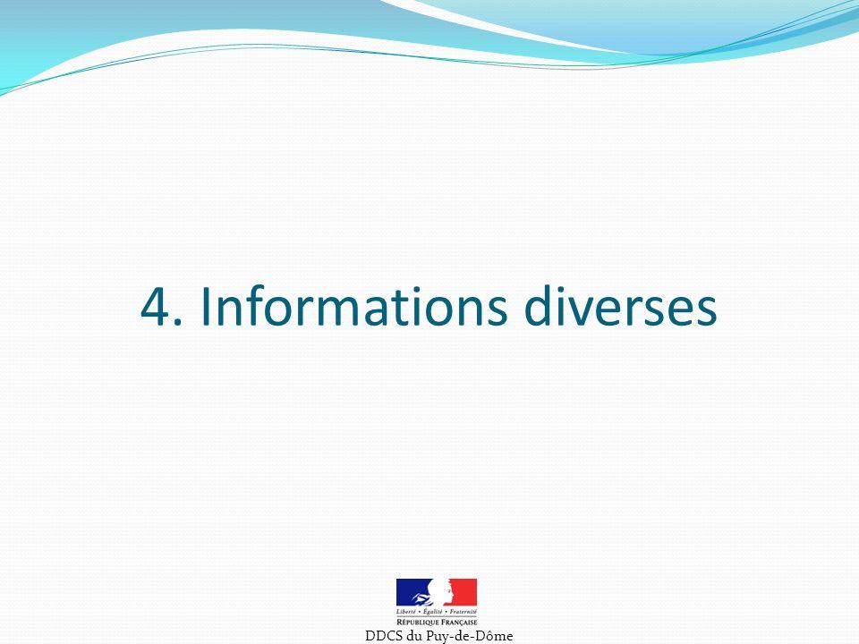 4. Informations diverses