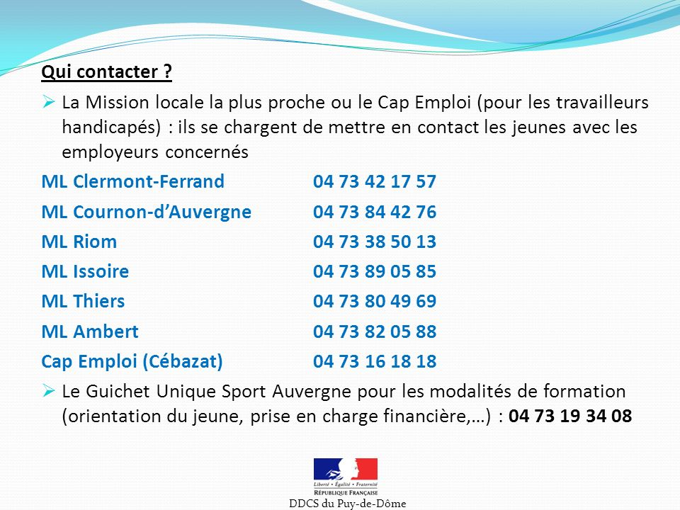 ML Cournon-d'Auvergne 04 73 84 42 76 ML Riom 04 73 38 50 13