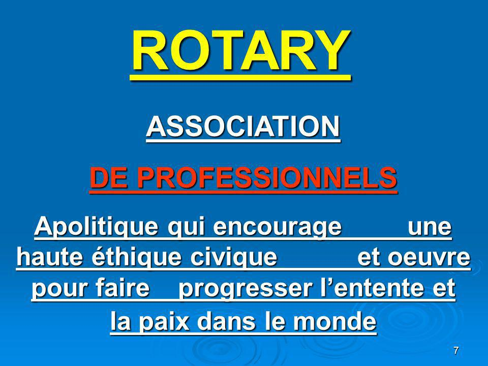 ROTARY ASSOCIATION DE PROFESSIONNELS
