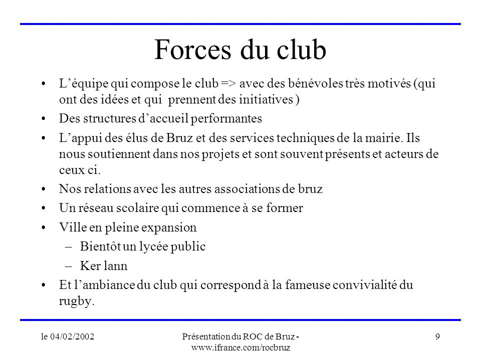 Présentation du ROC de Bruz - www.ifrance.com/rocbruz