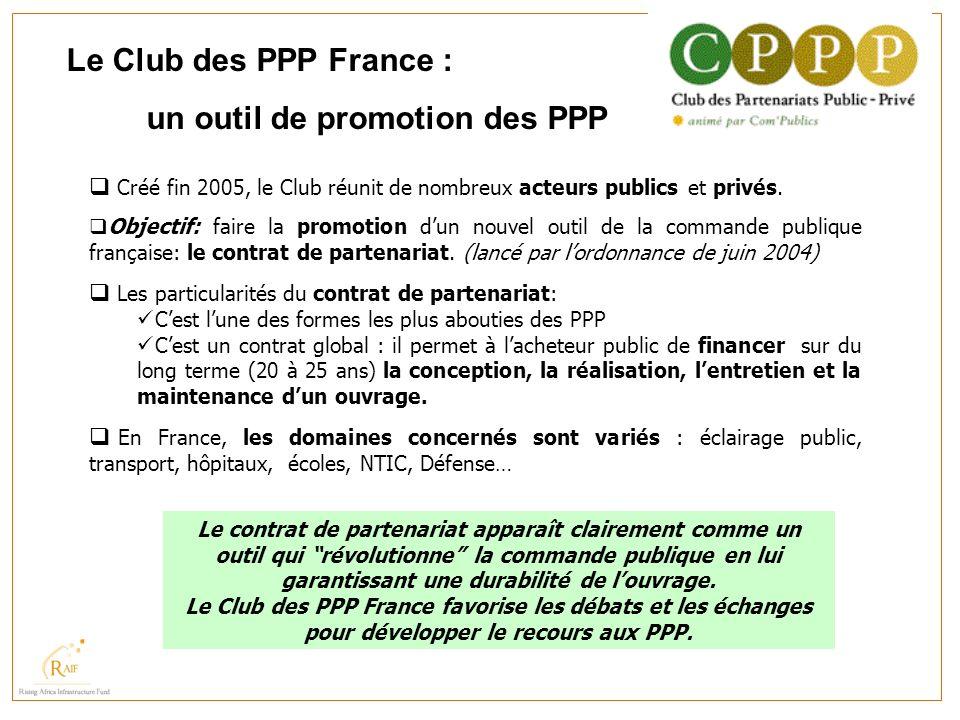 un outil de promotion des PPP
