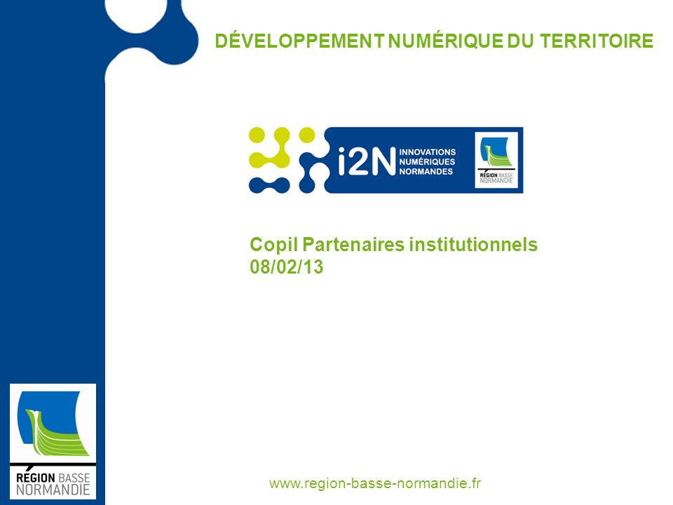Copil Partenaires institutionnels 08/02/13