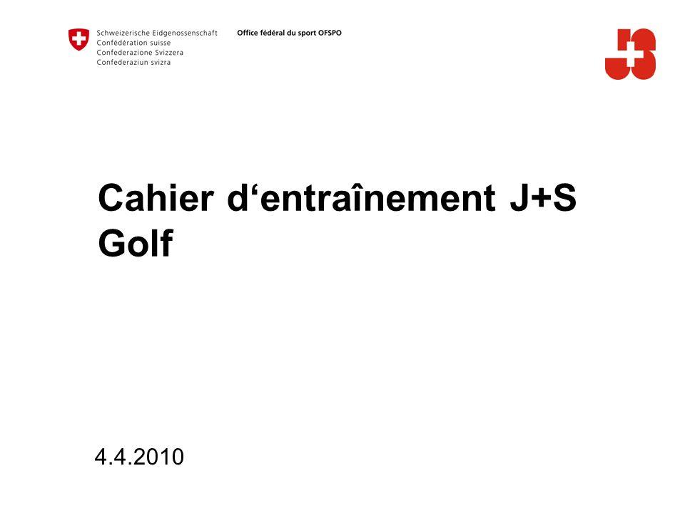 Cahier d'entraînement J+S Golf