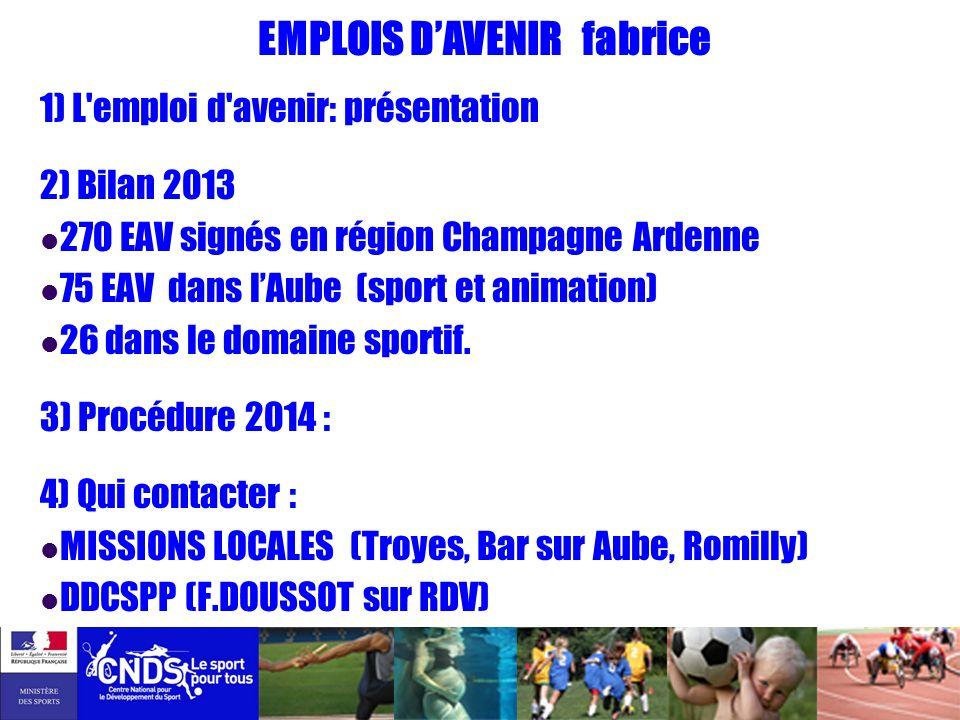 EMPLOIS D'AVENIR fabrice