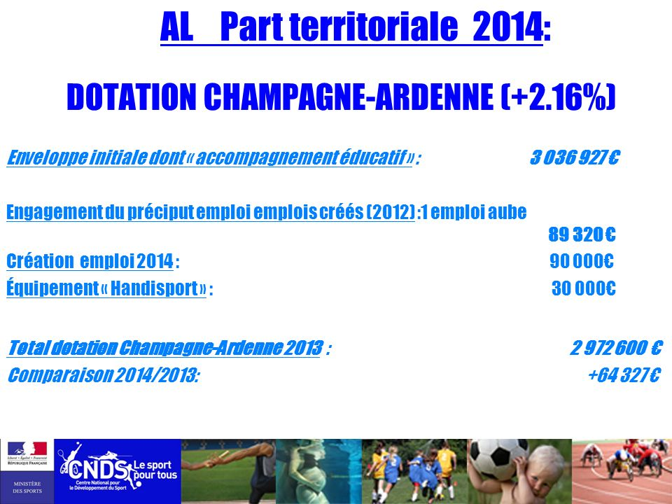 DOTATION CHAMPAGNE-ARDENNE (+2.16%)