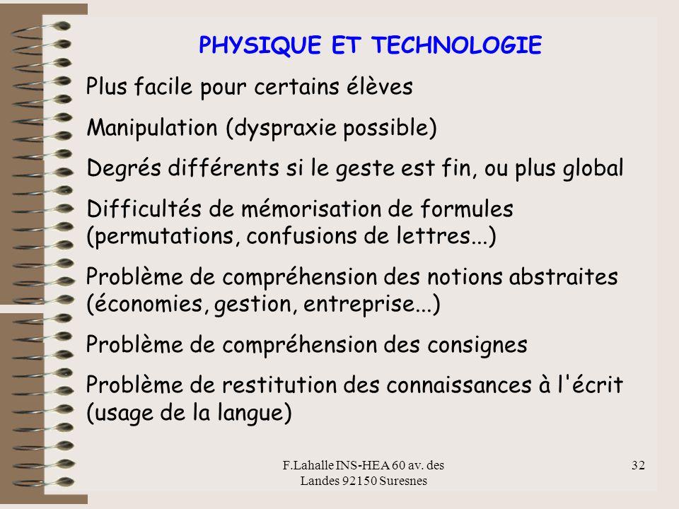 PHYSIQUE ET TECHNOLOGIE