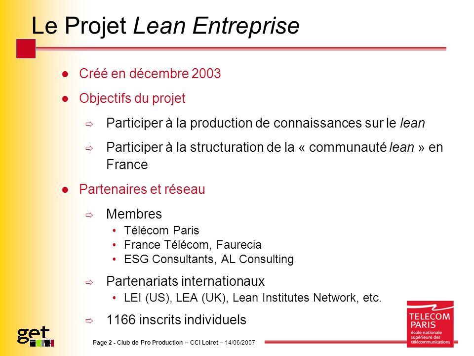 Le Projet Lean Entreprise